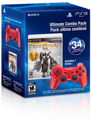 God of War® Saga & Deep Red DUALSHOCK®3 Wireless Controller